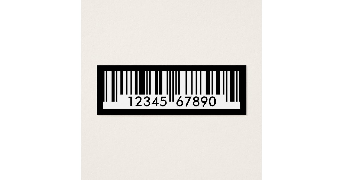barcode mini business card | Zazzle.com