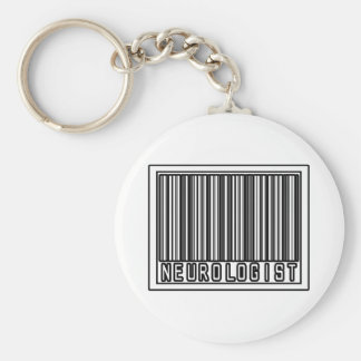 Barcode Neurologist Keychain