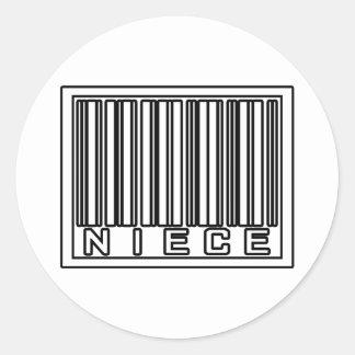 Barcode Niece Sticker
