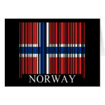 Barcode Norway Flag Greeting Card
