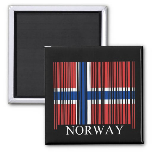 Barcode Norway Flag Magnet