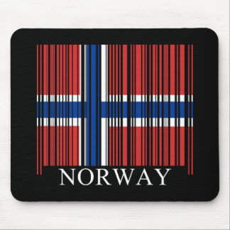 Barcode Norway Flag Mouse Pad
