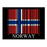Barcode Norway Flag Post Cards
