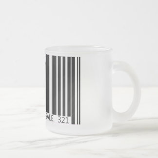 Barcode - Not for Sale Frosted Glass Coffee Mug