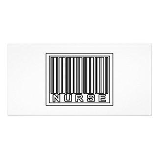 Barcode Nurse Photo Card