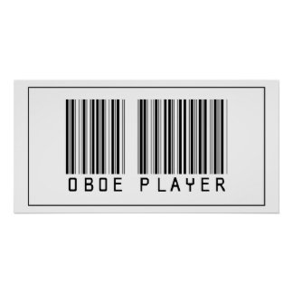 Barcode Oboe Player Poster