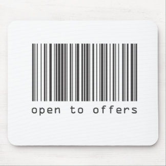 Barcode - Open To Offers Mouse Pad