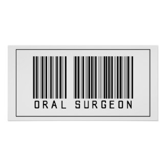 Barcode Oral Surgeon Poster