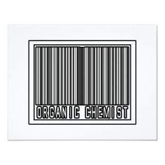 Barcode Organic Chemist 4.25x5.5 Paper Invitation Card