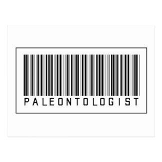 Barcode Paleontologist Post Cards