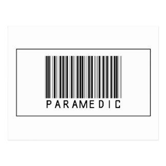 Barcode Paramedic Postcard