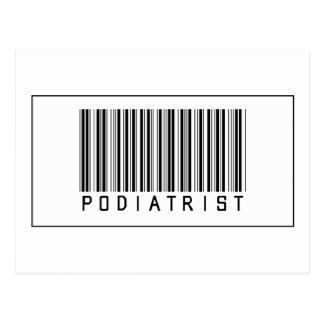 Barcode Podiatrist Postcard