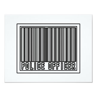 Barcode Police Officer Personalized Invite