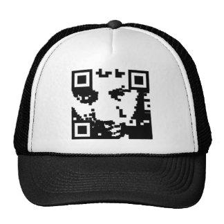 barcode portrait trucker hat