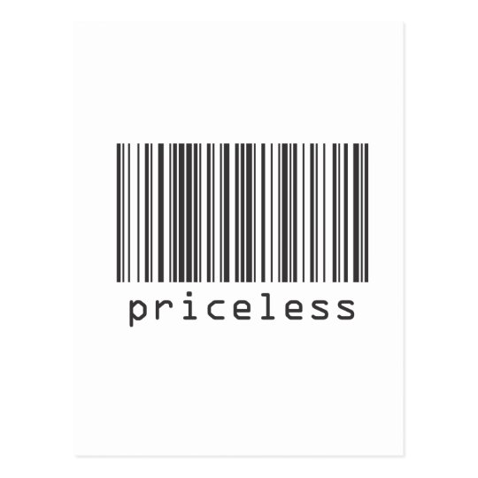 Barcode - Priceless Postcard