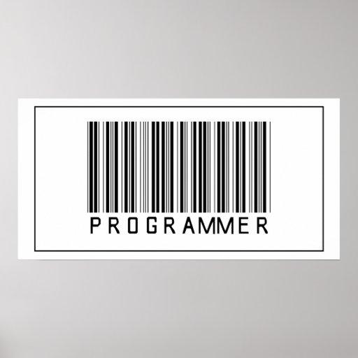 Barcode Programmer Poster