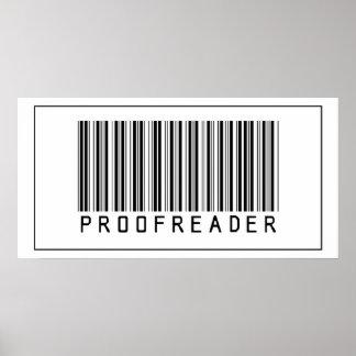 Barcode Proofreader Poster