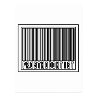 Barcode Prosthodontist Postcard