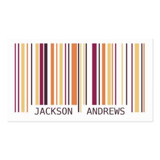 Barcode - Purple Business Card