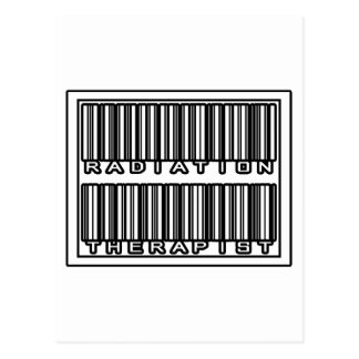 Barcode Radiation Therapist Postcard