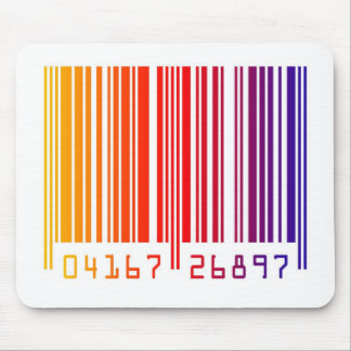Barcode rainbow graphic mouse pad