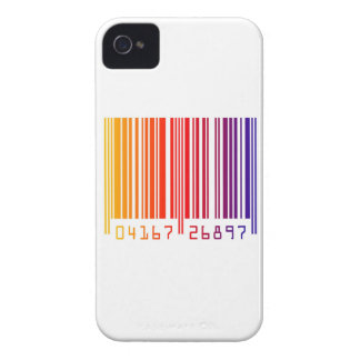 Barcode rainbow multi color stripes graphic iPhone 4 cases