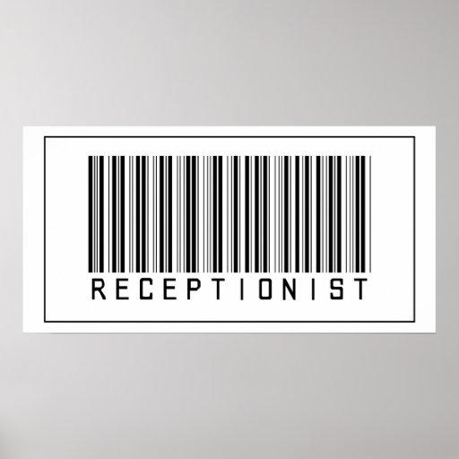 Barcode Receptionist Print