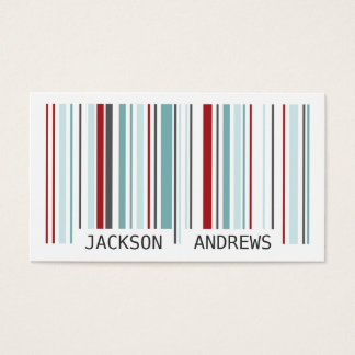 Barcode - Red/Blue Business Card