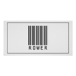 Barcode Rower Poster