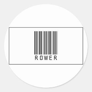 Barcode Rower Round Stickers