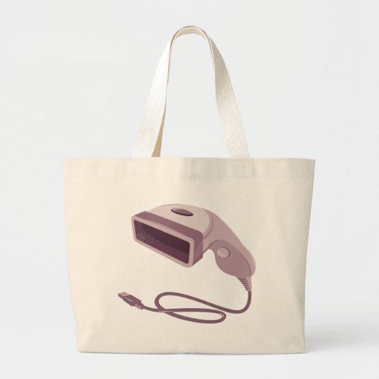 barcode scanner reader usb cable large tote bag