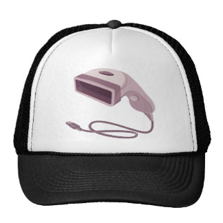 barcode scanner reader usb cable trucker hat