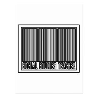 Barcode Social Studies Teacher Postcard