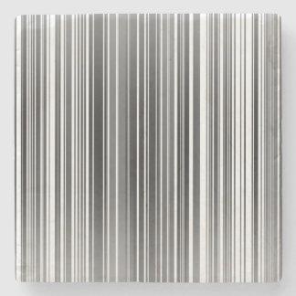 Barcode Stripes Stone Coaster