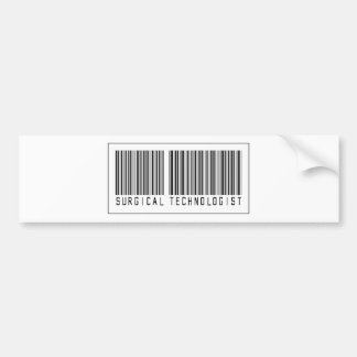 Barcode Surgical Technologist Bumper Stickers