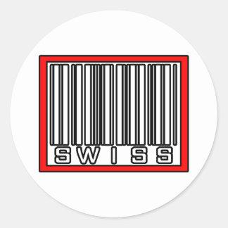 Barcode Swiss Classic Round Sticker