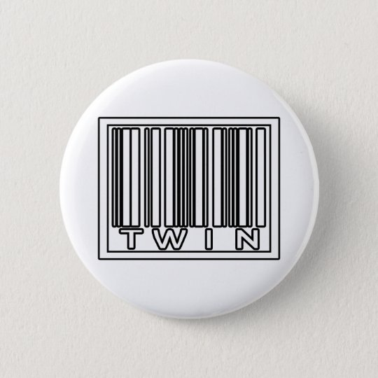 Barcode Twin Pinback Button
