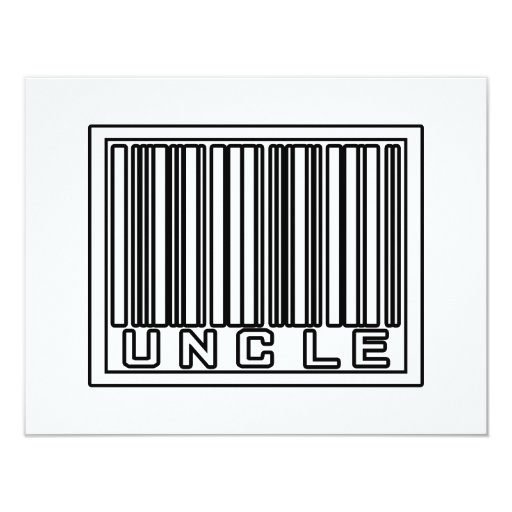 "Barcode Uncle 4.25"" X 5.5"" Invitation Card"