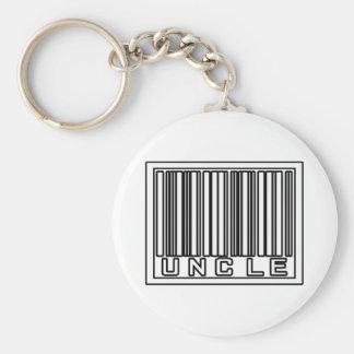 Barcode Uncle Basic Round Button Keychain