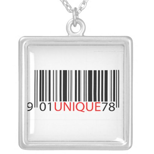 BarCode -Unique Red Custom Necklace