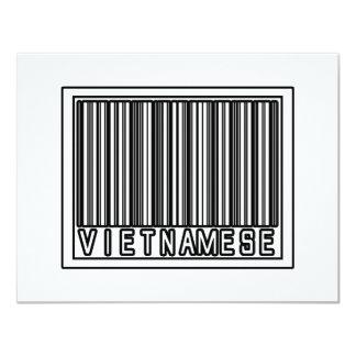 Barcode Vietnamese 4.25x5.5 Paper Invitation Card