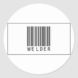 Barcode Welder Classic Round Sticker