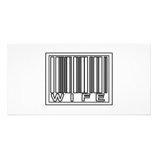 Barcode Wife Photo Card Template