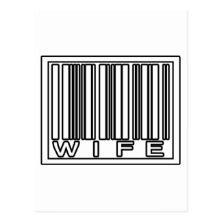 Barcode Wife Postcard