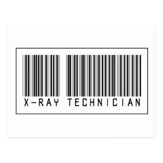 Barcode X-Ray Technician Postcard
