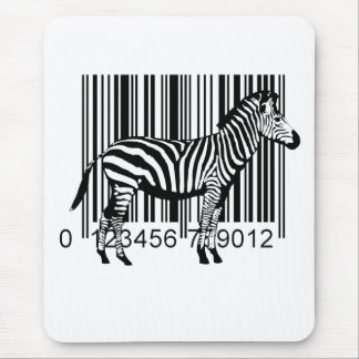 Barcode Zebra illustration Mouse Pad