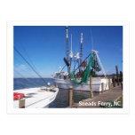 Barcos amarrados del camarón postal