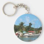 Barcos atracados Antigua Llaveros Personalizados