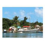 Barcos atracados Antigua Postal