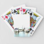 Barcos atracados baraja cartas de poker